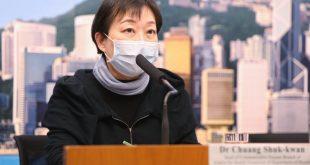 傳染病處主任張竹君指,香港今日(8日)暫時未有新確診新冠病毒個案,累積數目維持26宗,3名確診感染者情況危殆(資料圖片)